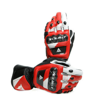 Dainese Druid 3 Black White Lava Red Riding Gloves 2