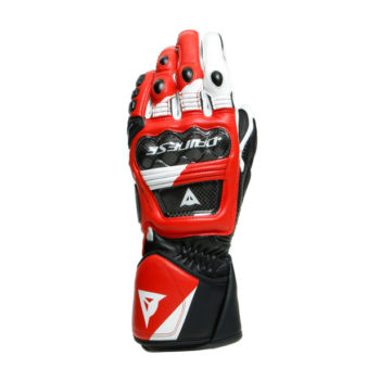Dainese Druid 3 Black White Lava Red Riding Gloves