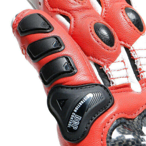 Dainese Druid 3 Black White Lava Red Riding Gloves 4