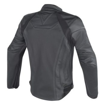 Dainese Fighter Perforated Leather Black Riding Jacket 2