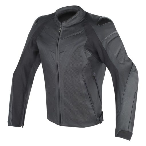 Dainese Fighter Perforated Leather Black Riding Jacket