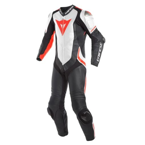 Dainese Sec 4 Laguna Blak White Fluorescent Red Riding Suit 2