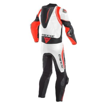 Dainese Sec 4 Laguna Blak White Fluorescent Red Riding Suit