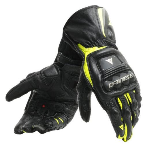 Dainese Steel Pro Black Fluorescent Yellow Riding Gloves