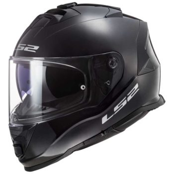 LS2 FF800 Storm Gloss Solid Black Full Face Helmet 2 new