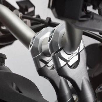 SW Motech 25mm Handlebar Risers for 22mm Handlebars Silver 1
