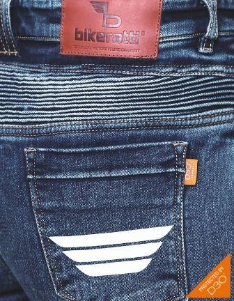 Bikeratti Steam Lady Denim Riding Jeans with D3O Armour 3