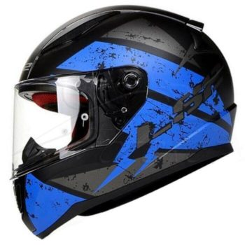 LS2 FF353 Rapid Deadbolt Matt Black Blue Full Face Helmet