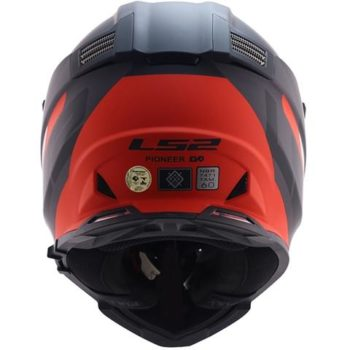 LS2 MX436 Pioneer Router Evo Matt Black Red Dual Sport Helmet 1
