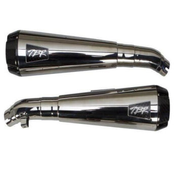 Two Brothers Chrome Dual Slip On Exhaust for Triumph Bonneville T120T100 2017 2020