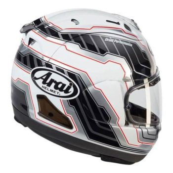ARAI RX7V Mamola Edge Gloss White Full Face Helmet1