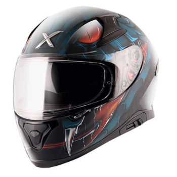 AXOR APEX Venomous Gloss Black Blue Full Face Helmet