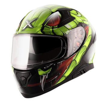 AXOR APEX Venomous Gloss Black Fluorescent Green Full Face Helmet 2