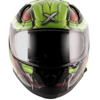 AXOR APEX Venomous Gloss Black Fluorescent Green Full Face Helmet 4