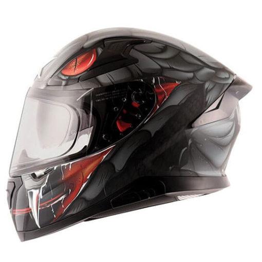 AXOR APEX Venomous Gloss Black Grey Full Face Helmet 2