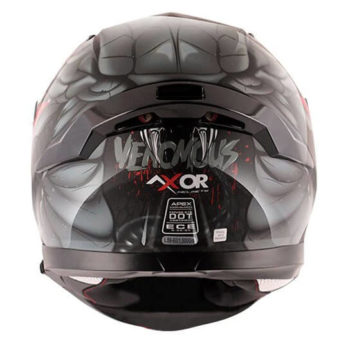 AXOR APEX Venomous Gloss Black Grey Full Face Helmet 3