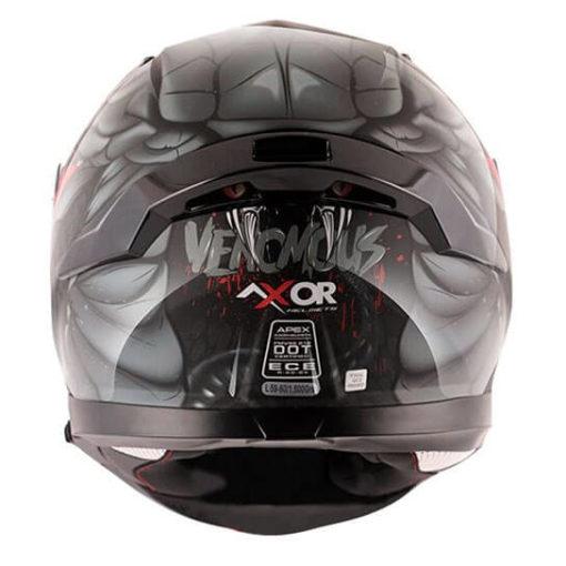 AXOR APEX Venomous Gloss Black Grey Full Face Helmet 3