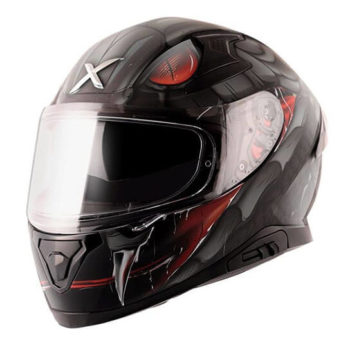 AXOR APEX Venomous Gloss Black Grey Full Face Helmet