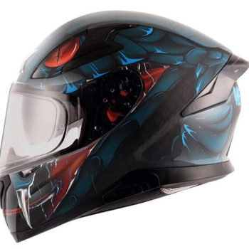 AXOR APEX Venomous Matt Black Blue Full Face Helmet 4
