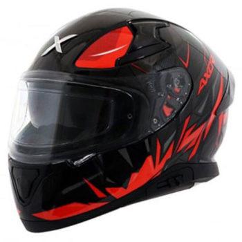 AXOR Apex Hunter Matt Black Red Full Face Helmet