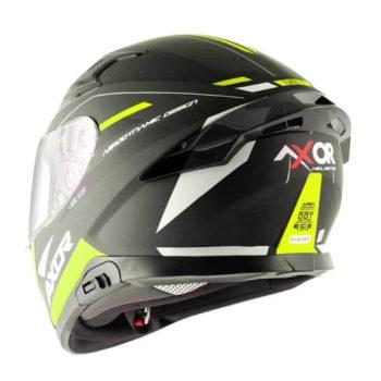 AXOR Apex Turbine Gloss Black Fluorescent Grey Full Face Helmet 1
