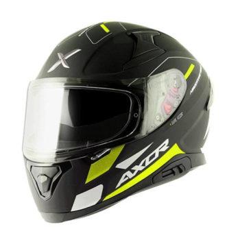 AXOR Apex Turbine Gloss Black Fluorescent Grey Full Face Helmet