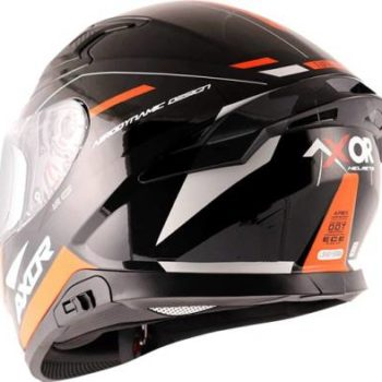 AXOR Apex Turbine Gloss Black Grey Orange Full Face Helmet 1