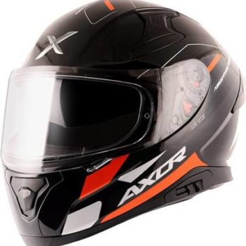 AXOR Apex Turbine Gloss Black Grey Orange Full Face Helmet
