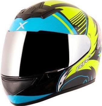 AXOR RAGE RR3 Gloss Black Fluroscent Yellow Full Face Helmet 2