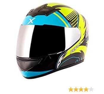 AXOR RAGE RR3 Gloss Black Fluroscent Yellow Full Face Helmet 3