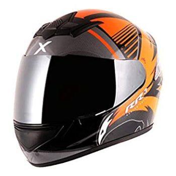 AXOR RAGE RR3 Gloss Black Orange Full Face Helmet