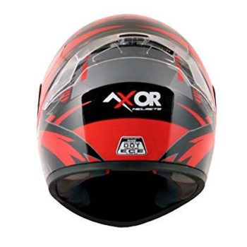 AXOR RAGE RR3 Gloss Black Red Full Face Helmet 2