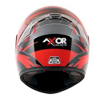 AXOR RAGE RR3 Gloss Black Red Full Face Helmet 2