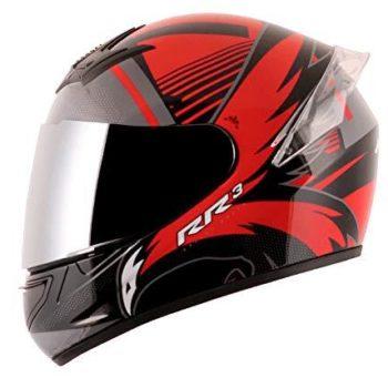 AXOR RAGE RR3 Gloss Black Red Full Face Helmet