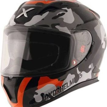 AXOR STREET CAMO Matt Black Orange Full Face Helmet 2
