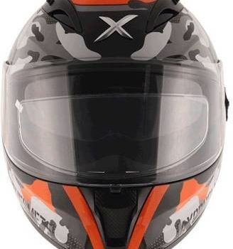 AXOR STREET CAMO Matt Black Orange Full Face Helmet