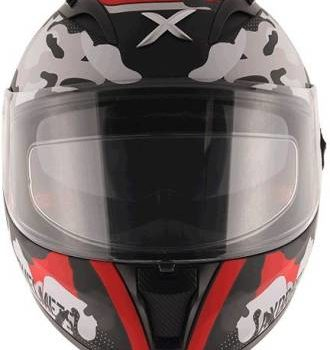 AXOR STREET CAMO Matt Black Red Full Face Helmet