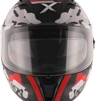 AXOR STREET CAMO Matt Black Red Full Face Helmet