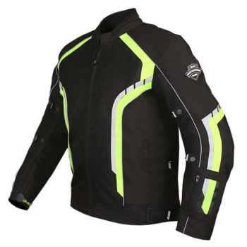 BBG xPlorer Black Fluorescent Yellow Riding Jacket 2