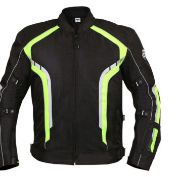 BBG xPlorer Black Fluorescent Yellow Riding Jacket