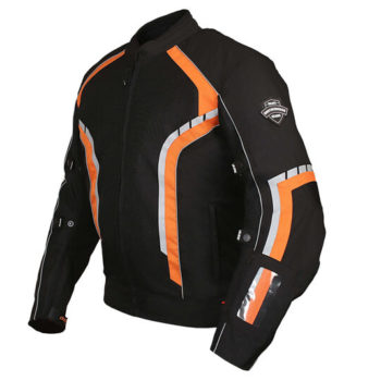 BBG xPlorer Black Orange Riding Jacket 2