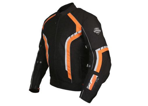 BBG xPlorer Black Orange Riding Jacket 2