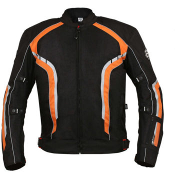 BBG xPlorer Black Orange Riding Jacket