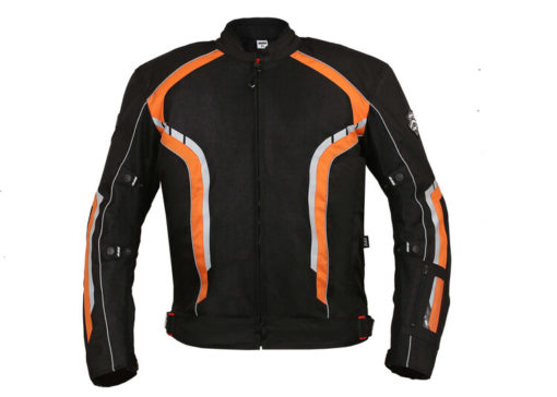 BBG xPlorer Black Orange Riding Jacket