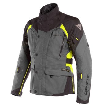 Dainese X Tourer D Dry Ebony Black Fluorescent Yellow Riding Jacket 1