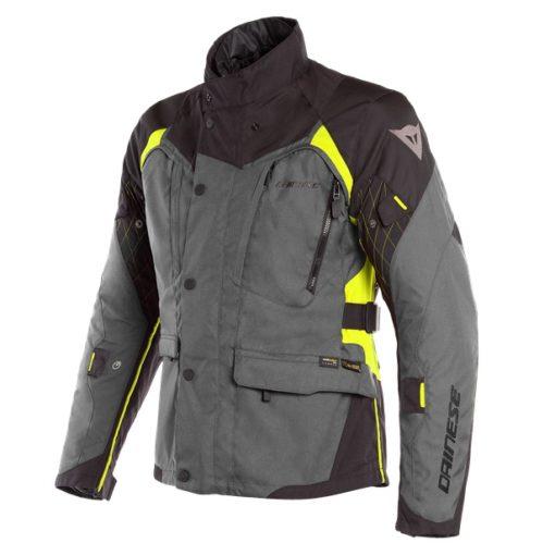 Dainese X Tourer D Dry Ebony Black Fluorescent Yellow Riding Jacket 1