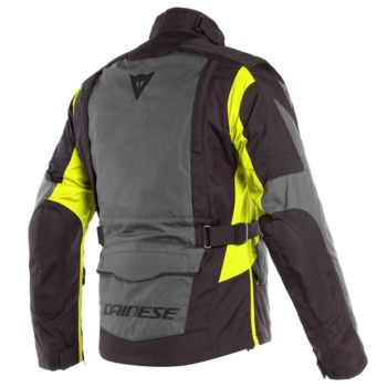 Dainese X Tourer D Dry Ebony Black Fluorescent Yellow Riding Jacket