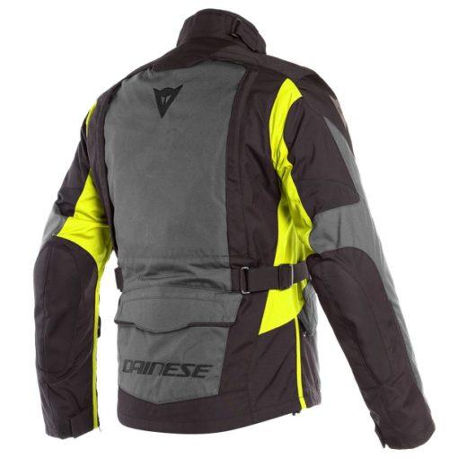 Dainese X Tourer D Dry Ebony Black Fluorescent Yellow Riding Jacket