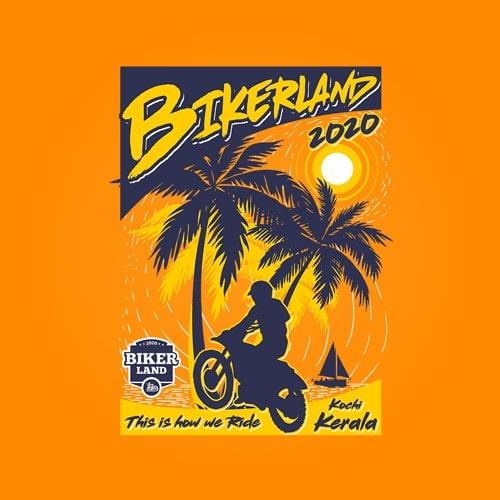 INLINE4 Bikerland Cotton Motorcycle T shirt 2
