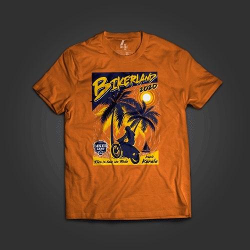INLINE4 Bikerland Cotton Motorcycle T shirt